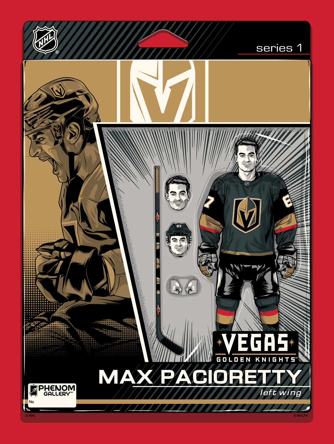 Vegas Golden Knights Max Pacioretty Action Figure Serigraph