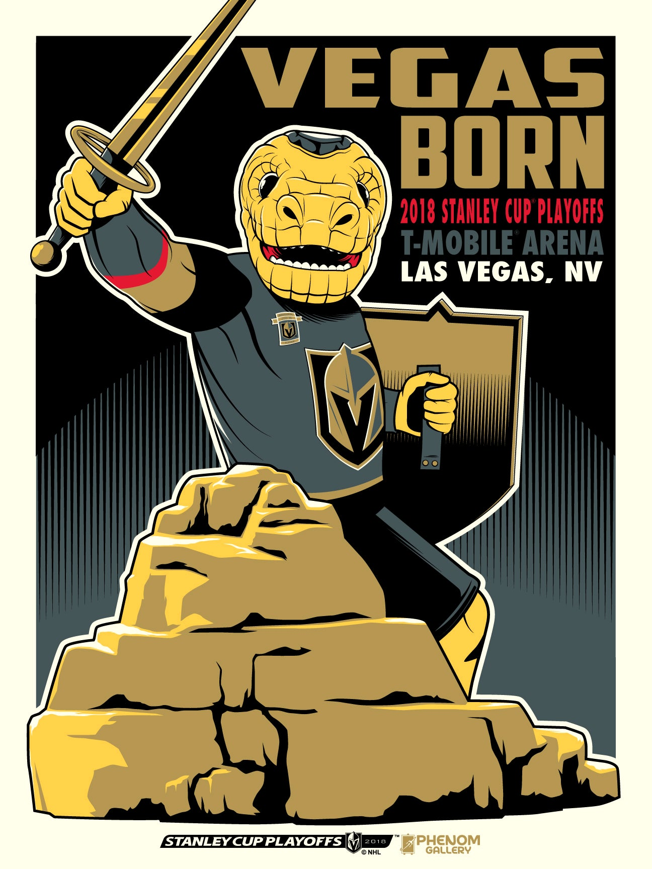 Vegas Golden Knights 2018 Stanley Cup Playoffs Serigraph (Printer Proof)