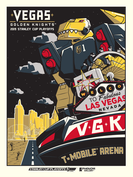 Vegas Golden Knights Chance Robot Serigraph