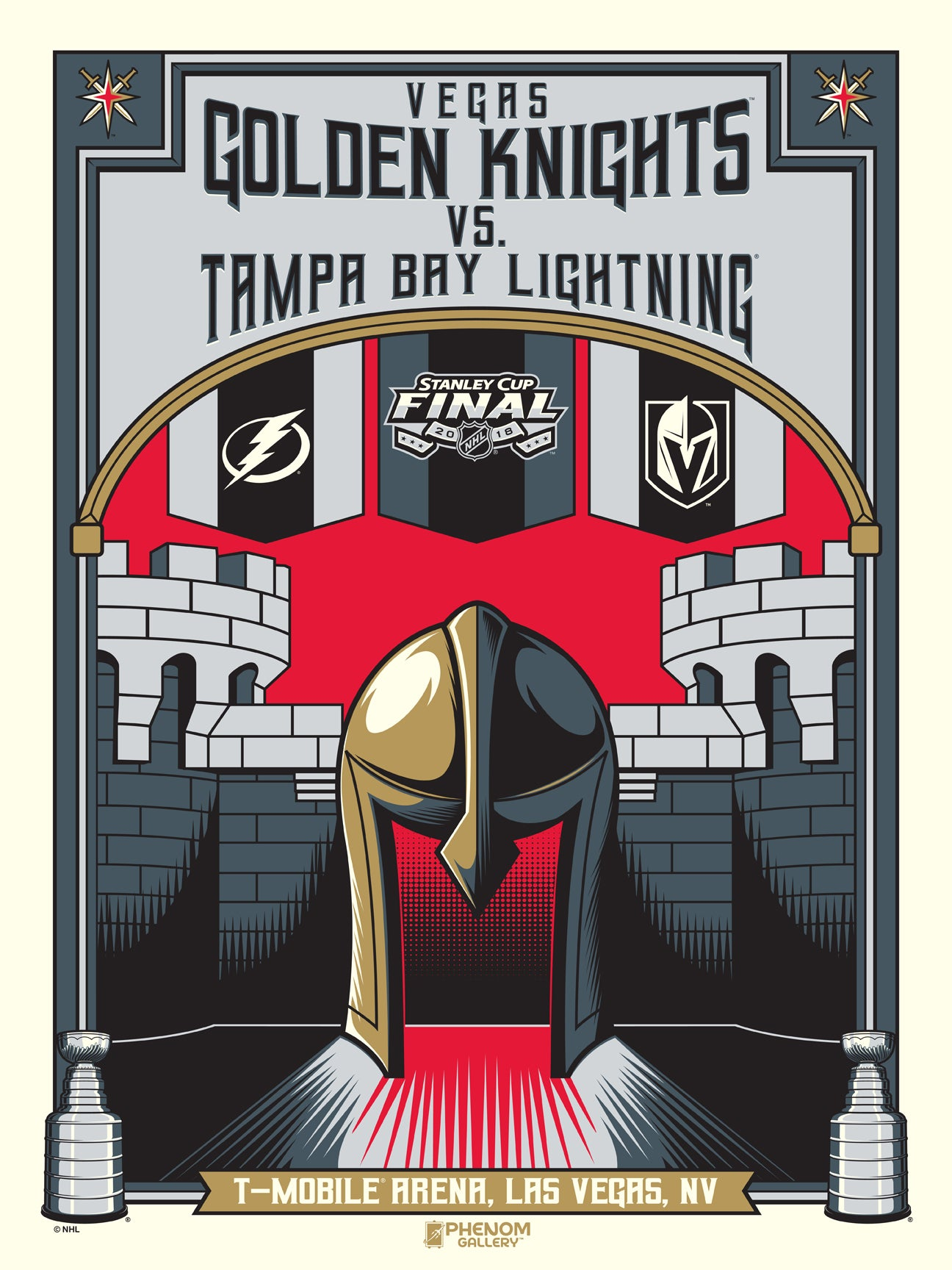 Vegas Golden Knights 2018 Stanley Cup Finals Serigraph (Printer Proof)