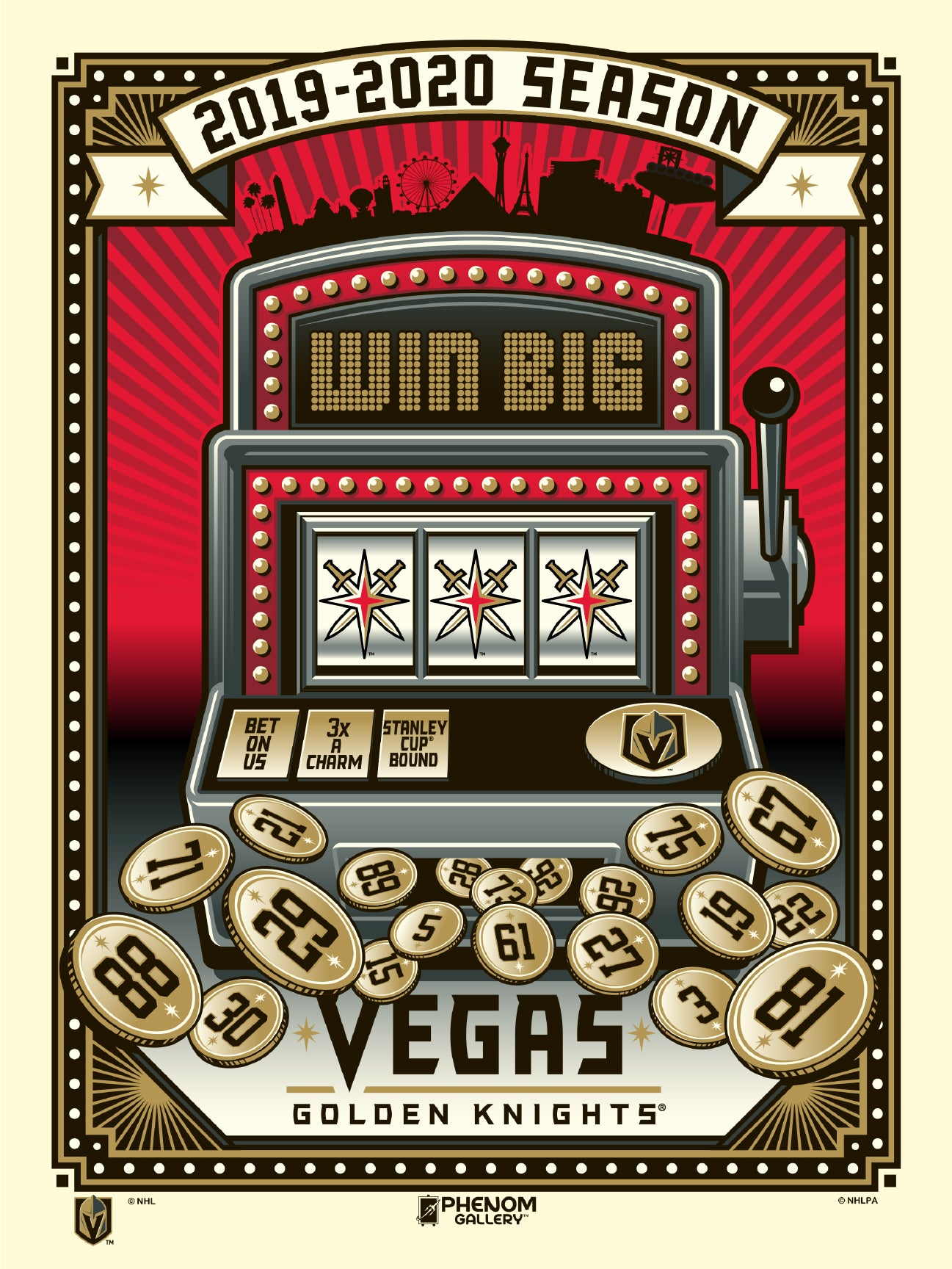 Vegas Golden Knights 2019-20 Slots Serigraph (Printer Proof)