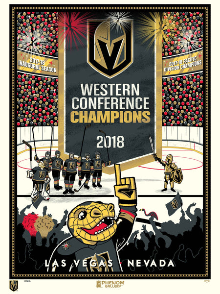Vegas Golden Knights™ Western Conference Champs Serigraph