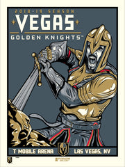 Vegas Golden Knights™ Sword and Stone M. Fitz Serigraph (Printer Proof)