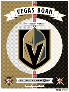 Vegas Golden Knights™ 2018 Conference Finals Violent Gentleman Limited Edition Serigraph (Printer Proof Edition)