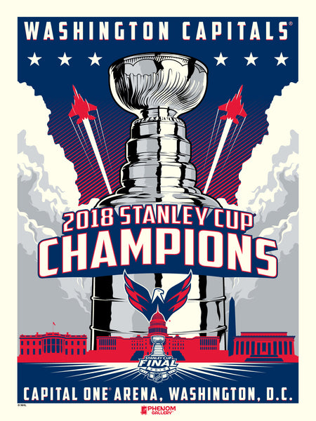 Washington Capitals™ 2018 Champions M. Fitz Serigraph (Printer Proof)
