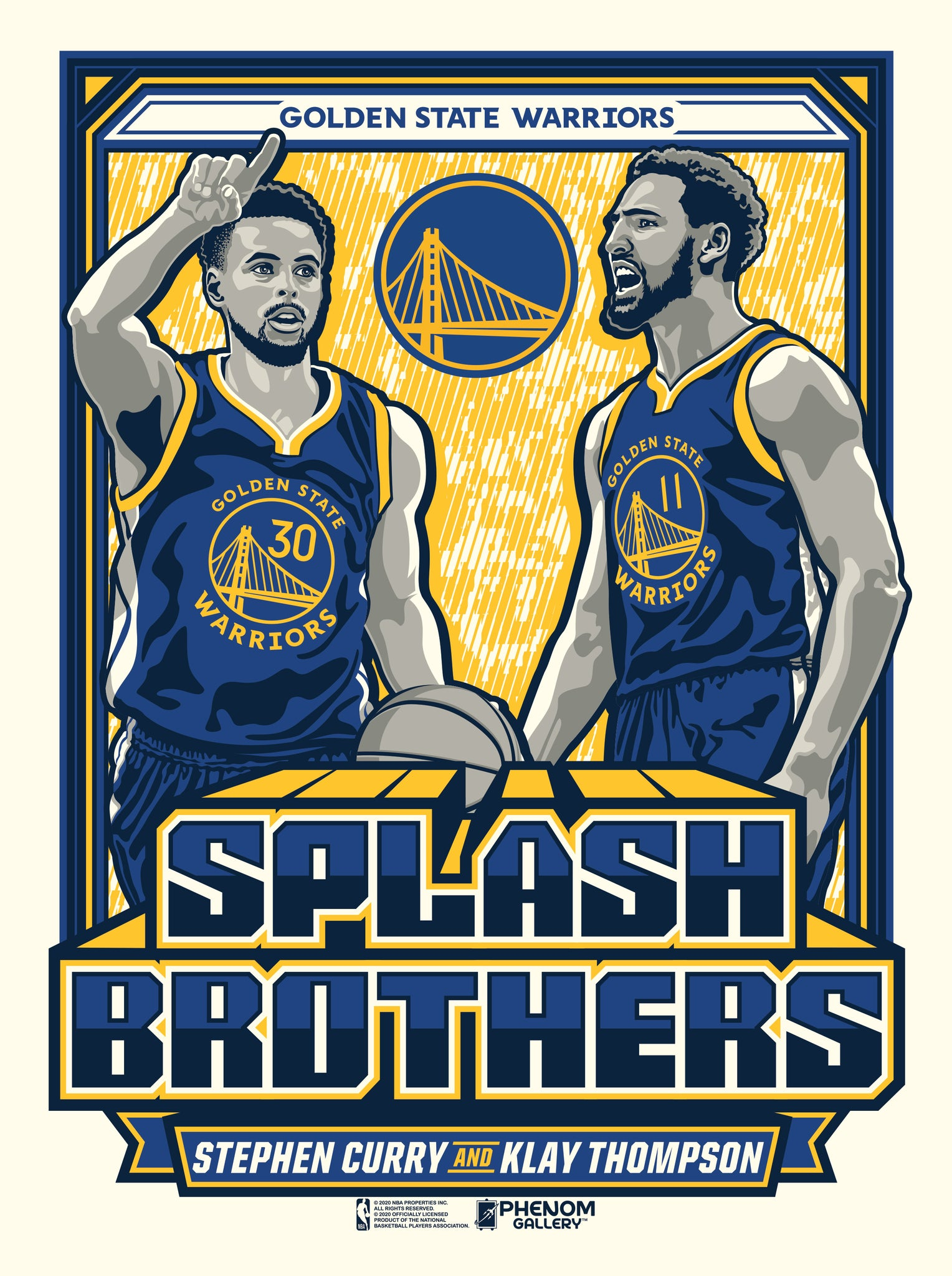 Golden State Warriors Splash Brothers Limited Edition Serigraph