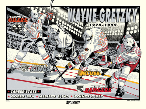 NHL Wayne Gretzky Legend Serigraph- Presell Ships June 15th