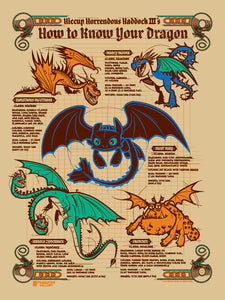 How To Know Your Dragon Serigraph