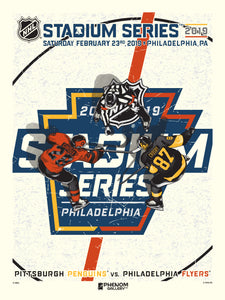 NHL Stadium Series 2019 - Penguins vs Flyers Serigraph (Printer Proof)
