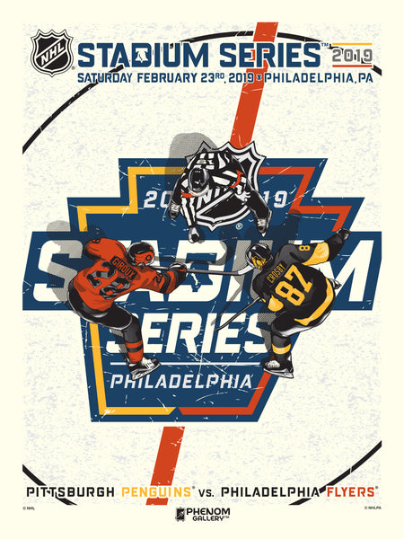 NHL Stadium Series™ 2019 Penguins™ vs Flyers™ M. Fitz Serigraph (Printer Proof)