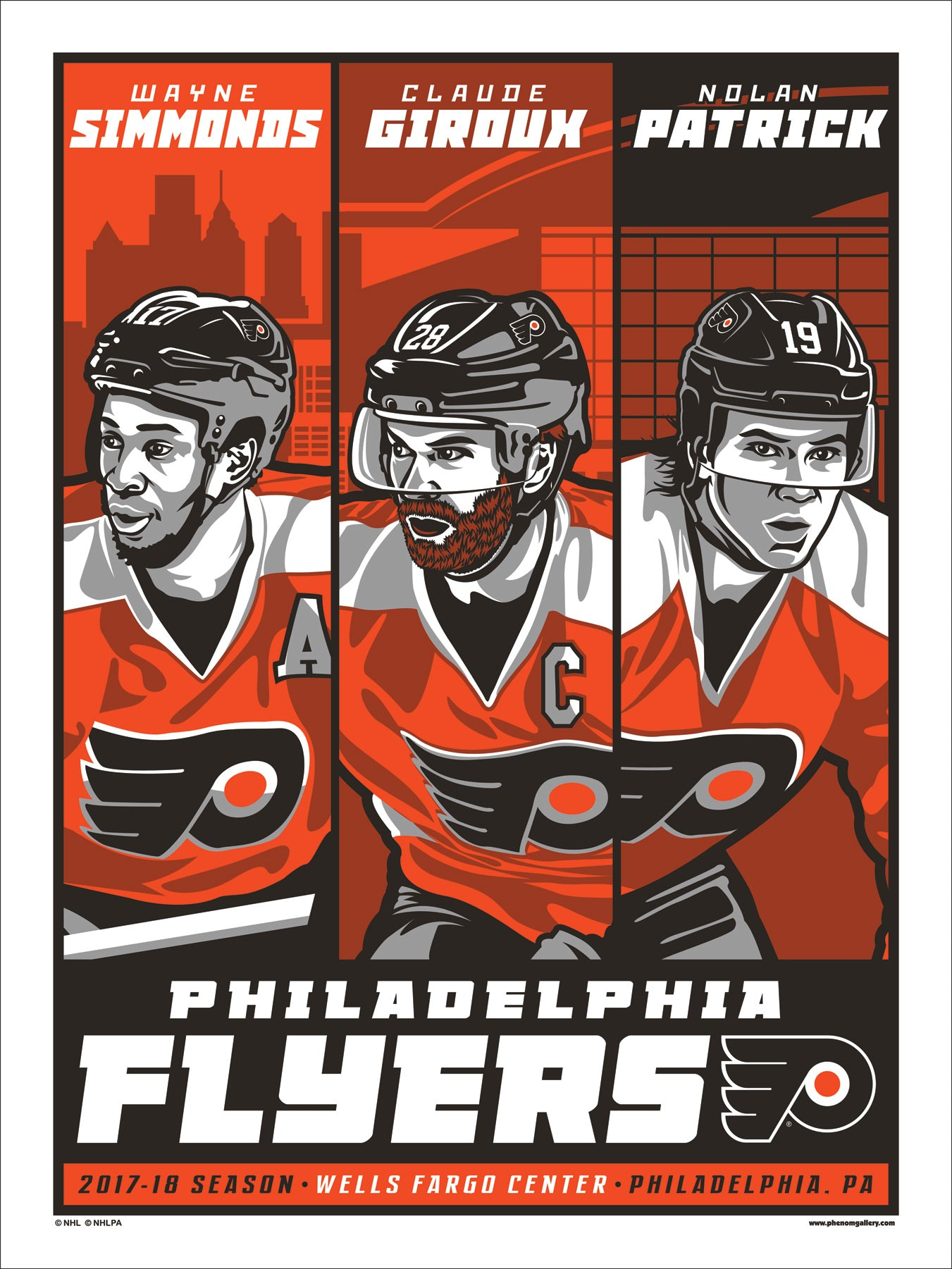 Philadelphia Flyers 2017-18 Season Serigraph (Printer Proof)