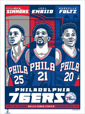 Philadelphia 76ers 2017-18 Season Serigraph (Printer Proof)