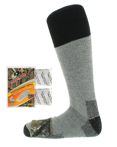 Mossy Oak Heated Merino Wool Sock
