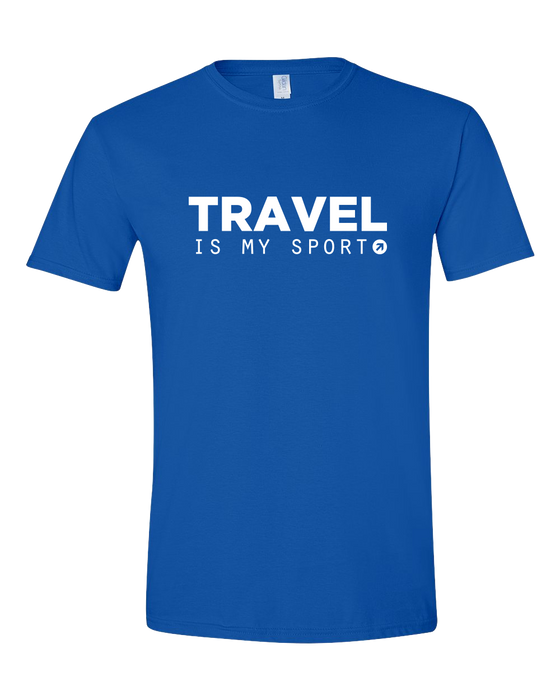 Travel is My Sport Royal T-shirt