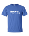 Travel is My Sport Royal Tall T-shirt