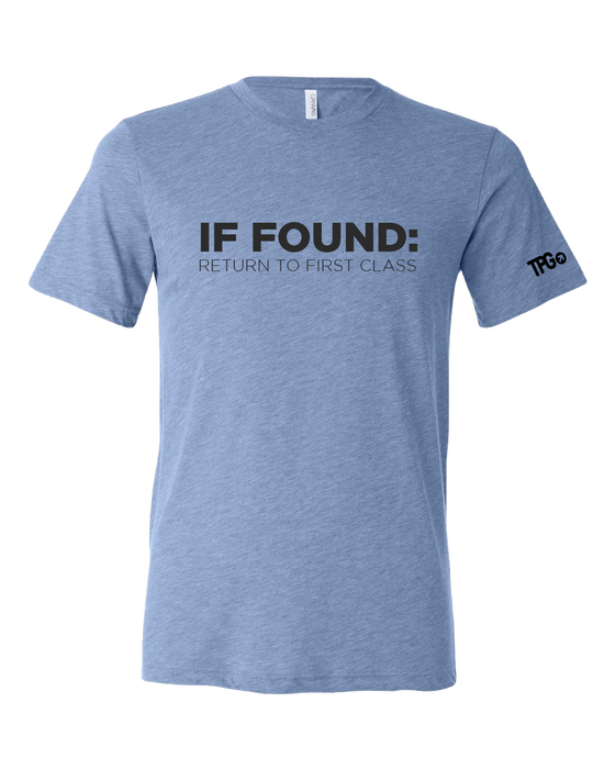 If Found Blue T-shirt