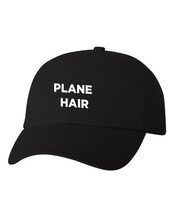 Plane Hair Black Dad Hat