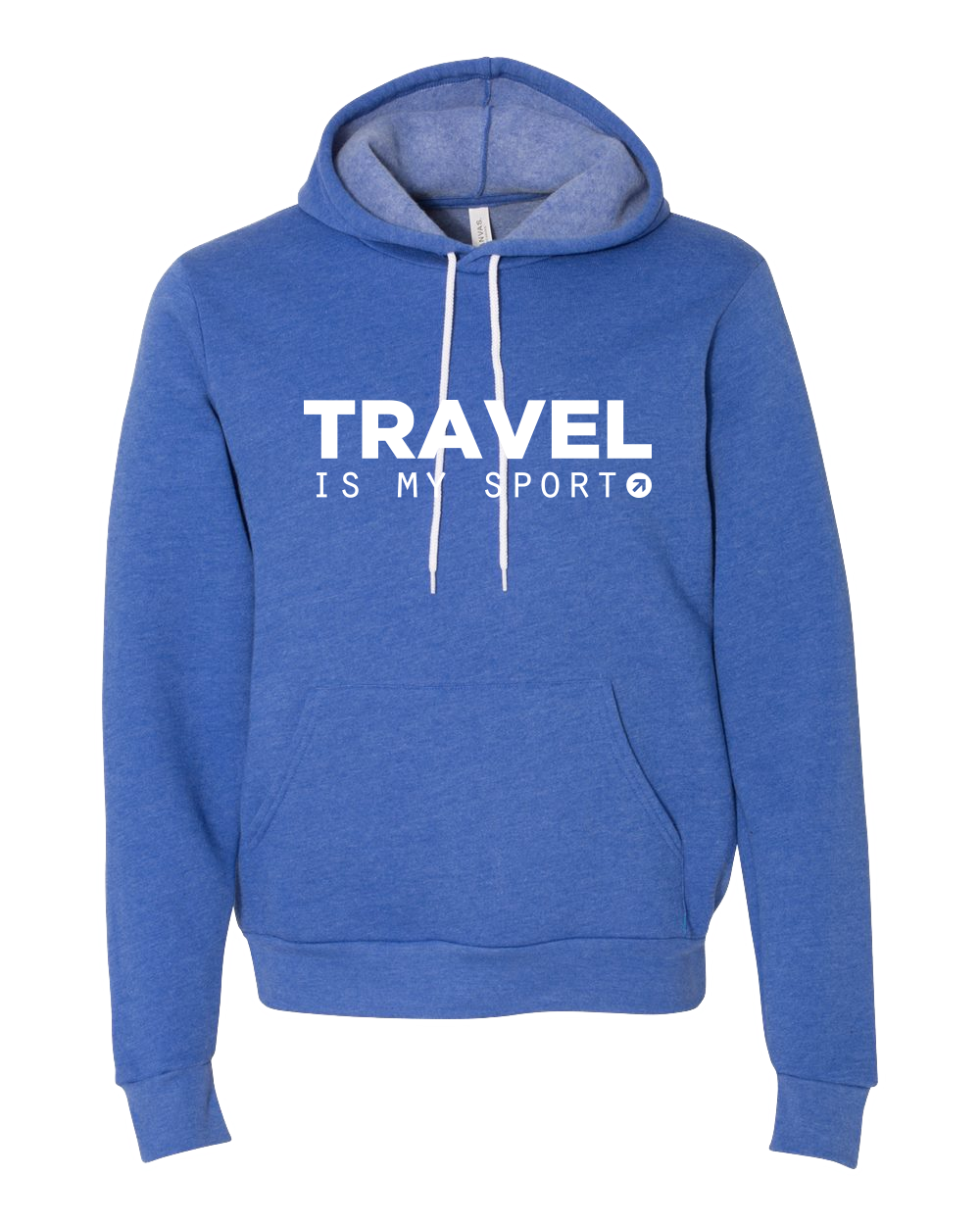 7a22da15 Travel is My Sport Royal Hoodie - The Points Guy