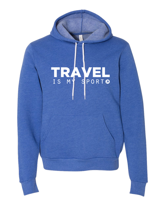 Travel is My Sport Royal Hoodie