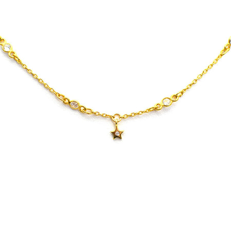 GOLD BEAD STRETCH BRACELET WITH HEART CHARM