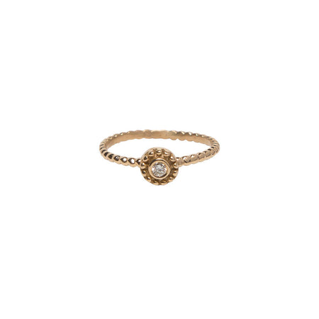 SINGLE BEZEL BAGUETTE DIAMOND, 18K YELLOW GOLD