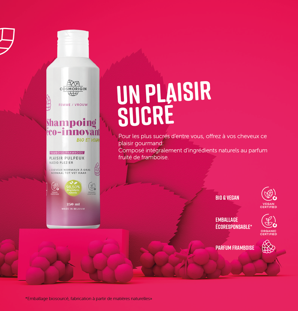 Charger l'image dans la galerie, Shampoing Framboise COSMORIGIN