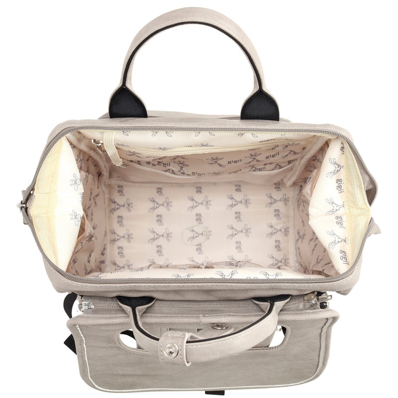 Bounty - Changing Backpack - Grey Faux Leather