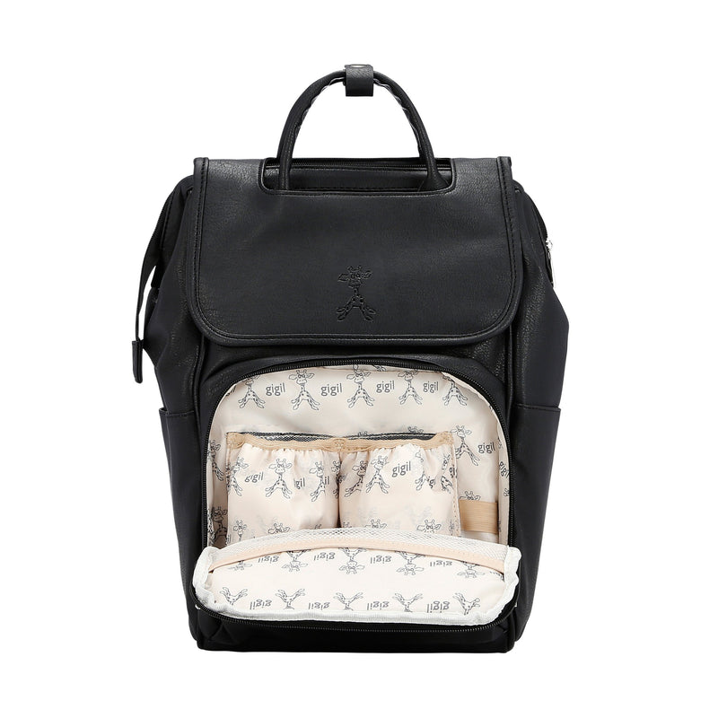 Bounty - Changing Backpack - Black Faux Leather