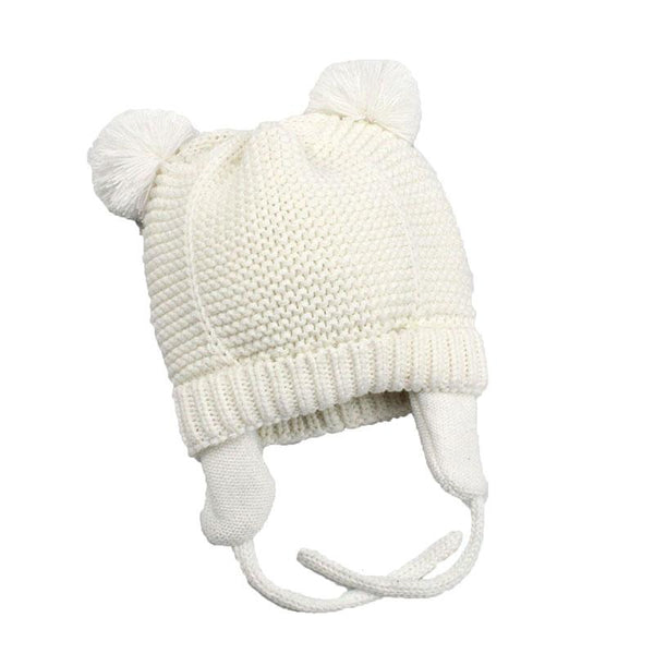 White Baby Bobble Hat