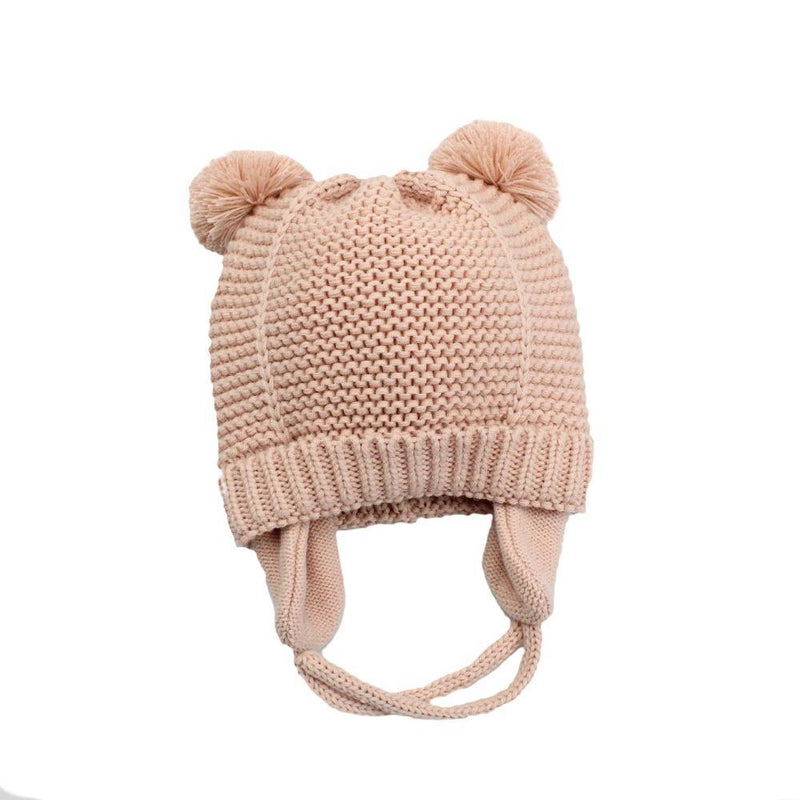 Pink Baby Bobble Hat