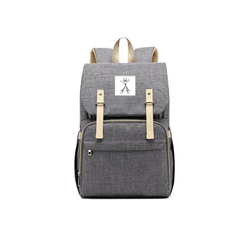 Grey Changing and Travel Backpack