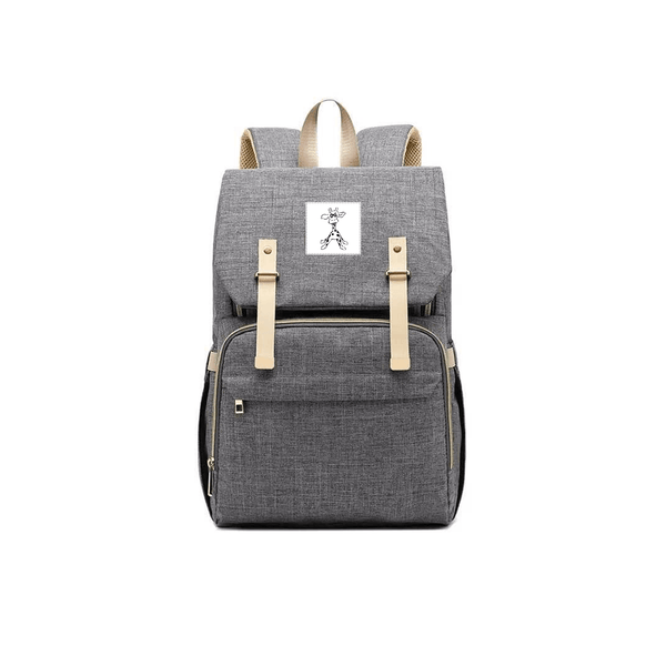 Padded Grey Changing and Travel Backpack