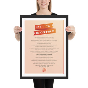 My Life is on Fire Manifesto