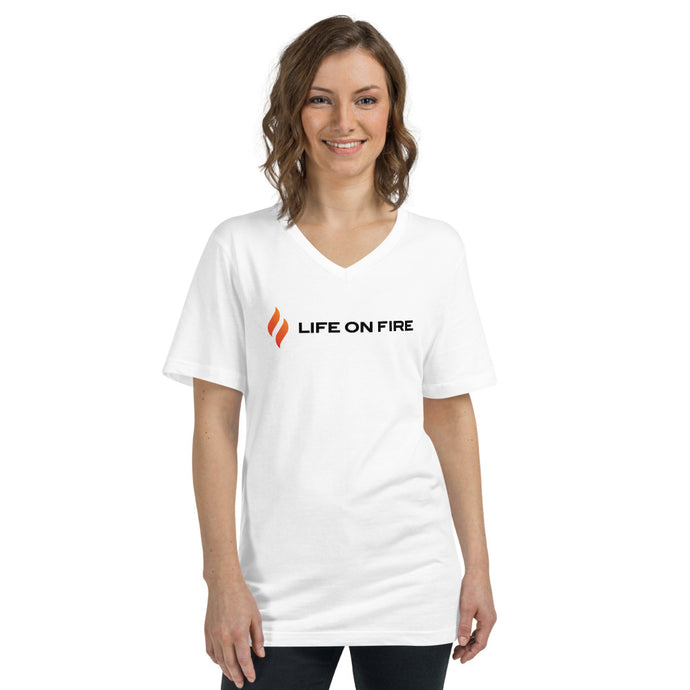 Life On Fire Short Sleeve V-Neck T-Shirt