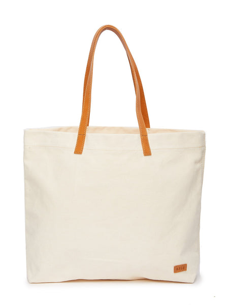 Mamuye Canvas Tote -Natural/Chestnut