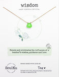 Soul Shine Necklace - Jade Green - WISDOM