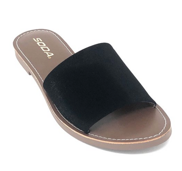 Alyse Slides - Black