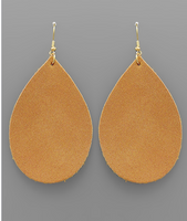 Teardrop Suede Earrings