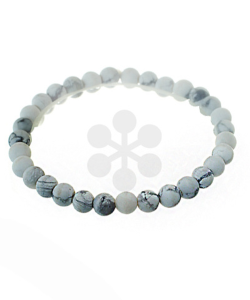 Howlite Adjustable Stone Bracelet