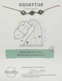 Zodiac Necklace - Moss Agate - AQUARIUS