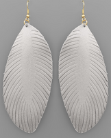 Monet Leather Earrings - Silver