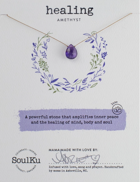 Love Necklace - Amethyst - HEALING
