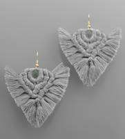 Arrowhead Macrame - Grey