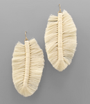 Leaf Macrame Earrings