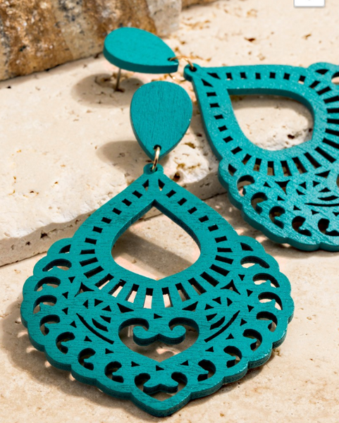 Felipe Earrings - Turquoise