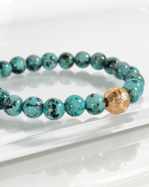 Speckled Green Stone Bracelet