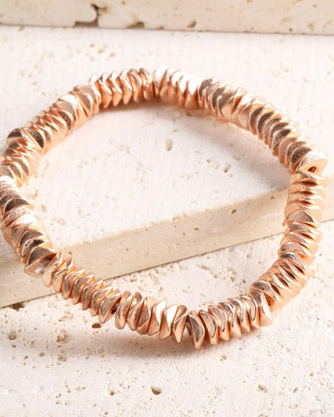 Rose Gold Metal Bead Bracelet