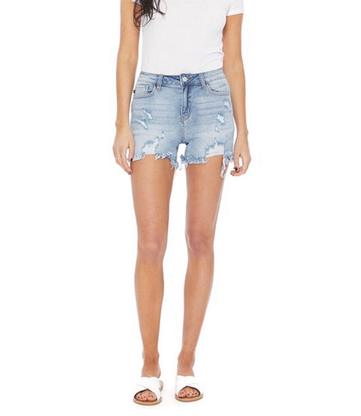 Cut-off Destroyed Denim Shorts