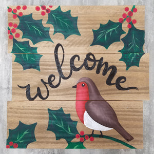 "Paint Night - ""Holiday Pallet Wood Welcome"""
