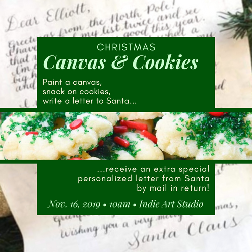 Christmas Canvas and Cookies